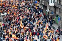تظاهرات في كتالونيا لتأييد الوحدة مع إسبانيا والاتحاد الأوروبي
