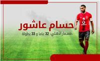 إنفوجراف| في عيد ميلاده الـ32.. حسام عاشور حاصد البطولات مع الأهلي
