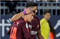 فيديو | سواريز وكوتينيو يقودان برشلونة لفوز ثمين على مالاجا بالدوري الإسباني