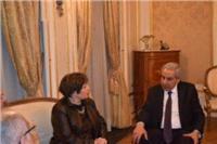 «قابيل» يبحث مع وزيرة تجارة بروكسل سبل التعاون الاقتصادى