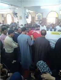 تشيع جثمان أحد شهداء الواجب الوطني بالمنيا.. «صور»