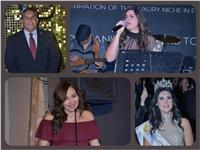 صور| طاهر أبوزيد وملكة جمال مصر يشاركان بمهرجان «Niche Awards»