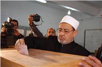 مصر تنتخب| شيخ الأزهر يدلي بصوته في مصر الجديدة