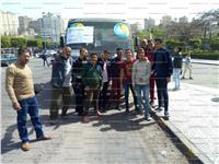 مصر تنتخب| بالصور أوتوبيس شركة مياه الإسكندرية يوصل الناخبين للجان