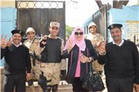 مصر تنتخب| عفاف شعيب تدلي بصوتها فى الانتخابات الرئاسية