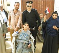 صور.. «مصر تنتخب»| متحدو الإعاقة يشاركون في الانتخابات بالفيوم