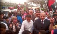 مصر تنتخب| محافظ القليوبية يقود مسيرة «انزل وشارك » ببنها