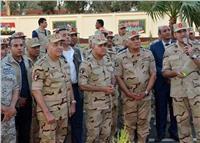 وزير الدفاع يشهد الاحتفال بتكريم المجندين دفعة الرديف المشاركين بالعملية «سيناء 2018»