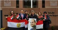 المصريون في ألمانيا يحتفلون بفوز السيسي