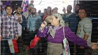 صور|«قالوا ايه» تشعل الأجواء في 6 اكتوبر احتفالا بالسيسي