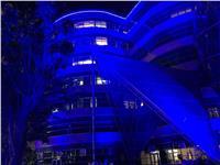 مستشفى 57357 تتزين باللون الأزرق تضامنا مع مرضى التوحد