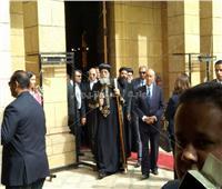 الرئيس البرتغالي يصل الكاتدرائية المرقسية بالعباسية