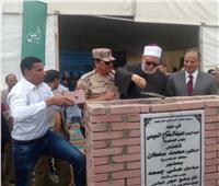 علي جمعة يضع حجر أساس مجمع مصانع السجاد في الإسكندرية
