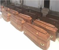 ننشر الصور الأولي لجثامين شهداء ليبيا قبل وصولهم مصر