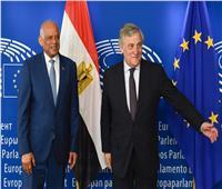 مباحثات مشتركة بين «عبدالعال» ورئيس البرلمان الأوروبى ببروكسل