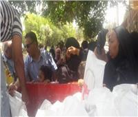 توزيع مساعدات غذائية على مواطني شمال سيناء ببطاقات التموين