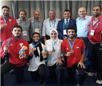 ذهبية و4فضيات وبرونزية حصيلة مصر من الميداليات في ألعاب البحر المتوسط تراجونا 2018