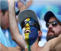 روسيا 2018| بالصور جماهير أوروجواي تتوافد على ملعب كوسموس