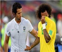 صور| إصابة مارسيلو وخروجه باكيًا من مباراة البرازيل وصربيا