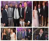 صور| الخطيب وشيكابالا بصحبة الفنانين في زفاف نجل عمرو الجنايني