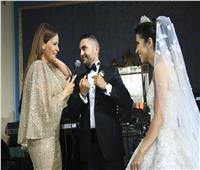 كارول سماحة وبوسي وجوهرة في حفل زفاف بالإسكندرية