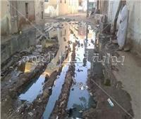 30 صورة لغرق «قرية بهيدة» في مياه «الصرف الصحي»