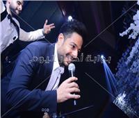 صور| حماقي وآلا كوشنير يشعلان زفاف حازم حسن ولينا المصري