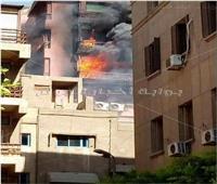 بالصور| حريق مستشفى الحسين الجامعي.. واحتمالية وجود مصابين