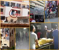 شاهد| تعرف على القصة الكاملة لحريق مستشفى الحسين الجامعي