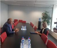وزير الخارجية يلتقي الممثلة العليا للاتحاد الأوروبي في بروكسل