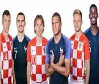 روسيا 2018| تعرف على ألوان زي فرنسا وكرواتيا في نهائي المونديال