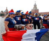 روسيا 2018| صور.. استعدادات الجمهور الفرنسي للقاء النهائي