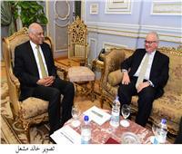 عبدالعال يستقبل سفراء العراق وصربيا وإيطاليا والسعودية