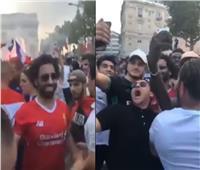 شاهد| شبيه صلاح يبهر جماهير فرنسا في احتفالات «الشانزليزيه»