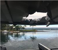 حمم بركانية تسقط على سفينة سياحية في هاواي وتصيب 22 شخصا