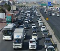كثافات مرورية أعلى كوبرى أحمد سعيد بسبب تعطل اتوبيس
