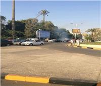 السيطرة على حريق داخل اتوبيس بالقرب من جامعة القاهرة