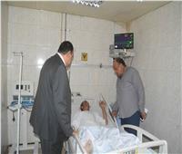 سكرتير عام محافظة المنيا يتابع الحالة الصحية للمصابين في حادث الشرفا