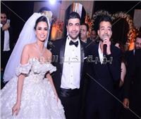 صور| هيثم شاكر يختتم حفل زفاف الإعلامية فرح علي