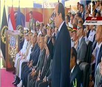 شاهد| الرئيس السيسي يعطي إشارة البدء لمراسم التخرج بكلية الشرطة