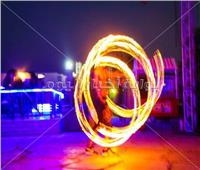 صور| شو ناري مميز بحفل شبابي في «الساحل»
