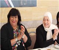 وزيرة الثقافة تبحث مع «بري» وبهية الحريري تكثيف التعاون مع مصر