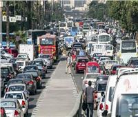 كثافات مرورية بمعظم بشوارع الجيزة