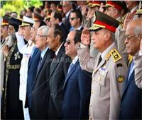 لأول مرة.. رئيسان و3 وزراء دفاع في حفل تخرج الكليات العسكرية