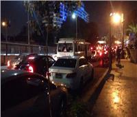 شلل مروري بكورنيش النيل بالمعادي بعد تصادم سيارتين