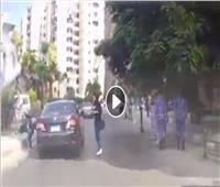 فيديو مروع لدهس سيدة في سموحة