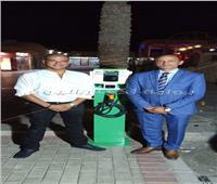 بالفيديو| تدشين أول محطة لشحن السيارات الكهربائية في مصر