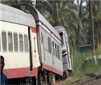 خروج قطار ركاب عن القضبان  بكوم أمبو