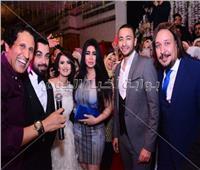 صور| حمادة هلال وهدى نجما زفاف الإعلامي كريم طارق