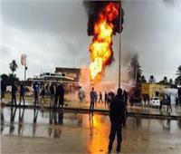 إخماد حريق في محطة وقود بالدقهلية